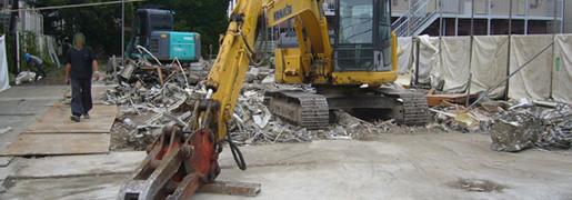 埼玉県春日部市の木造解体工事の現場です。1週間の工期でした